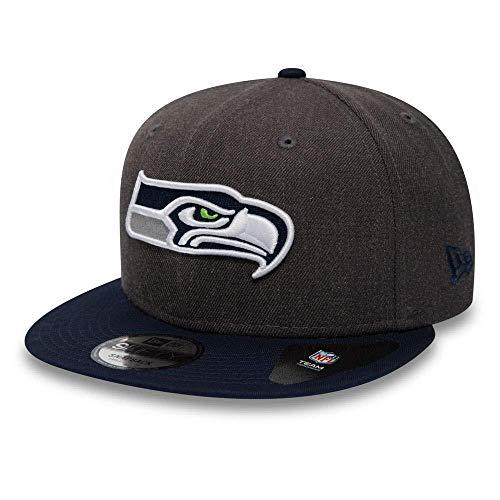 New Era NFL Heather 9Fifty Snapback Cap Seattle Seahawks Grau, Size:S/M -