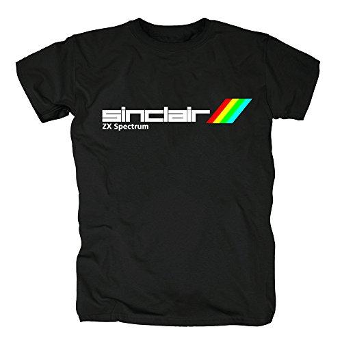 TSP Sinclair ZX Spectrum Herren T-Shirt XL Schwarz (Computer Sinclair)
