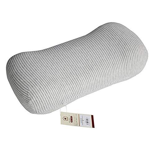 Massage Unendlich-Form Auto Nackenkissen Memory Foam Kopfstütze Lordosenstütze Kissen Auto Taille Kissen Büro Kissen Sofa Kissen,graythin
