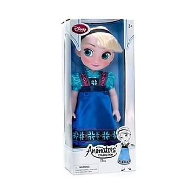 Disney Store - Muñeca Animators Elsa de Frozen pequeña (43 cm) de ToyCentre