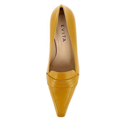 Evita Shoes Lia, Scarpe col tacco donna Ocra
