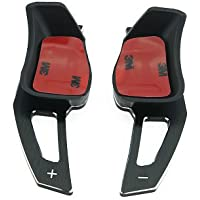 Heinmo 2 STÜCKE Aluminium material Lenkrad Shift Paddle Shift Erweiterung für Golf5 Golf6 Scirocco Eos PasatCC silber schwarz