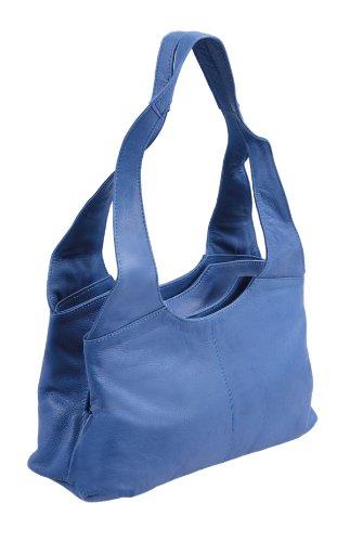 Borsellino da donna LEMONDO, Vera Pelle, 31x18x11,5cm Blue