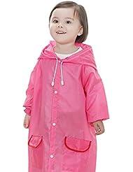 hibote Estaciones niños de la historieta con capucha impermeable con bolsillos 90-130cm