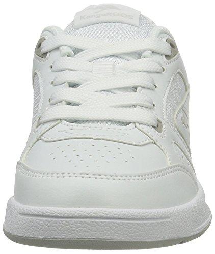 Senhoras Vantagem Lt Branco branco Cinzento Cangurus Sapatilha 57OTwqnx