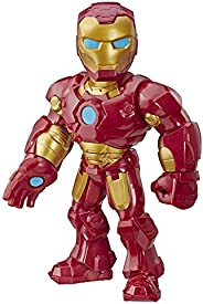 Super Hero Adventures Marvel Mega Mighties Iron Man Collectible 10-Inch Action Figure, Toys for Kids Ages 3 an