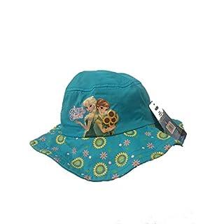 Disney Frozen Cap for Kids Sun Hat Elegant Hat for Girls Disney Princess Original Mädchen Mütze Hut Sommer Sonnenhut (türkis, 51cm)