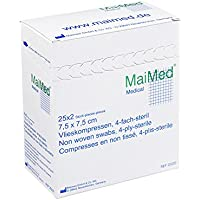 VLIESKOMPRESSEN 7,5x7,5 cm steril 50 St Kompressen preisvergleich bei billige-tabletten.eu