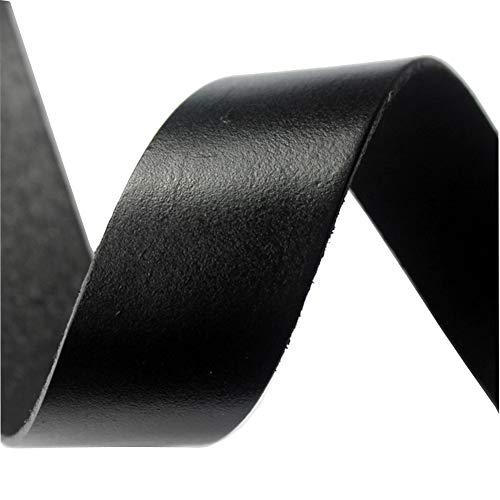 aaazee 2Meter 30x 2mm flach Leder Strip Echt Leder Band Schwarz Echtes Leder-band