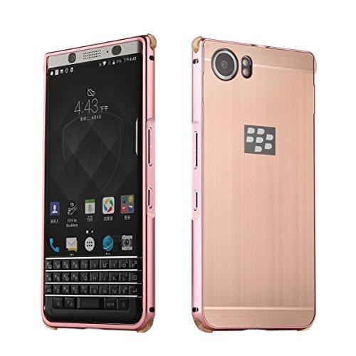 Metall Schutzhülle Alu Hard-Case Schutz Handytasche Ultra-Slim Handy-Hülle für Blackberry KEYone, Rosen