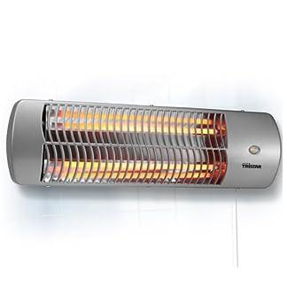 Tristar KA-5010 – Calefactor eléctrico para el baño con montaje en pared, cuarzo, 1200 W, color gris