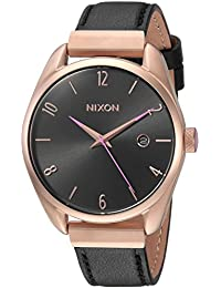 Nixon Women's 'Bullet Leather Luxe' Quartz Stainless Steel Casual Watch, Color Black (Model: A11851098)