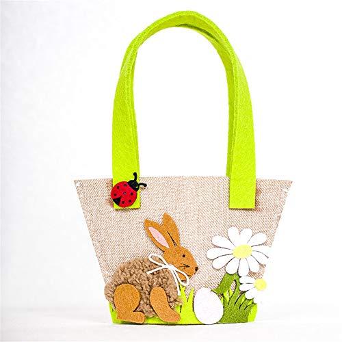 Ankamal Elec Osterhasen Tüten mit Henkel -Ostern Korb Geschenk Bunte Geschenktüten zu Ostern zum selber Befüllen - zum Verpacken von Geschenken für Kinder und Erwachsene (2#)