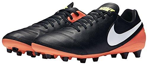 Nike Herren Tiempo Genio II Leather AG-Pro Fußballschuhe Mehrfarbig (Black/white-hyper Orange-volt)