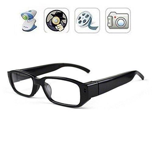 TenSky 1280x720P HD Tragbarer Video Brille Spion Kamera Recorder DV Camcorder mit Audio Aufnahme