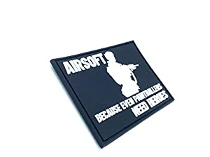 Airsoft Because Even Paintballers Need Heroes Blanc PVC Airsoft Paintball Velcro Patch