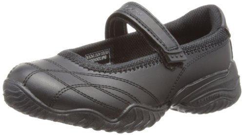 Skechers Junior/Youth Velocity Poulty Mary Jane Heel Black 81264L BLK 11 Child UK
