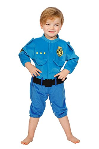 Kostüm Baby Cop - Babykostüm Polizist Baby Polizei Kostüm Overall Blau Cop Kinder Karneval 74-86