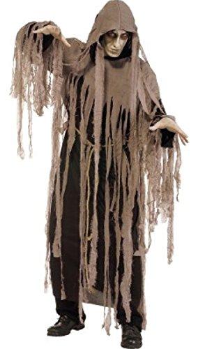 Horror Zombie-Kostüm Gr. 52/54 Geister-Verkleidung Mumie Hexe Robe Umhang Fetzen Karneval Fasching (Mumie Kostüm Halloween)