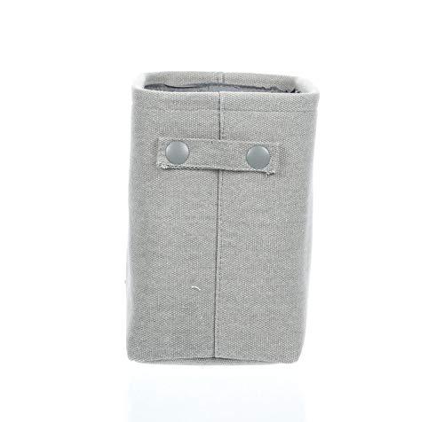 mDesign Toilettenpapierhalter (klein) aus Baumwolle - auch als Aufbewahrungskorb für Handtücher und Zeitungen - elegante Toilettenpapier-Aufbewahrung - hellgrau