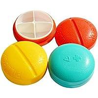 Asien Compact Round Pill Box Organizer Four Compartments Color preisvergleich bei billige-tabletten.eu