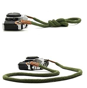 Cotone Camera Strap Tracolla Della Fotocamera,Fukalu Traspirante Cotone Verde Camera Strap Tracolla Della Fotocamera per Foro Rotondo