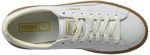 Puma Basket Platform Core, Sneakers Basses Femme Blanc (Puma White-puma White)