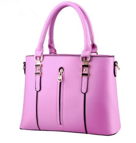 HQYSS Borse donna PU cuoio primavera modelli OL pendolari sezione verticale femminile cerniera tracolla Messenger Handbag , purple taro purple taro