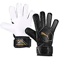 Puma King 4, Guanti Portiere Unisex-Adulto, Black-Gold White, 7