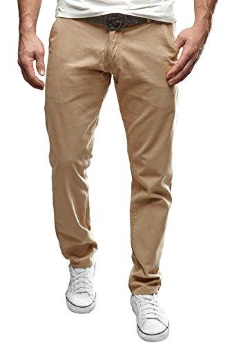 MERISH Chino Hose Herren Regular Fit Elegante Stoffhose Modell 49 Beige