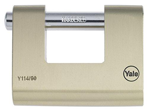Preisvergleich Produktbild Yale Y114/80/118/1 Vorhängeschloss, 80mm, rechteckig, Messing