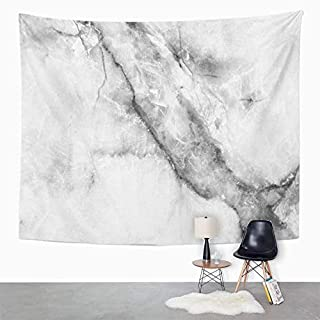 Eriesy Tapestry Wall Hanging Blue Abstract Patterned Marble Gray Architecture Black Boulder Canvas Clean Wall Hanging for Bedroom Living Room Dorm 130x150cm