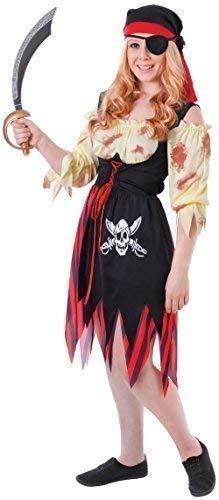 Fancy Me Teen &Ältere Mädchen 3 Stück Blutig Geschlagen Halloween Pirat Horror Zombie Karneval Kostüm Kleid Outfit - Piraten Mädchen Teen Kostüm