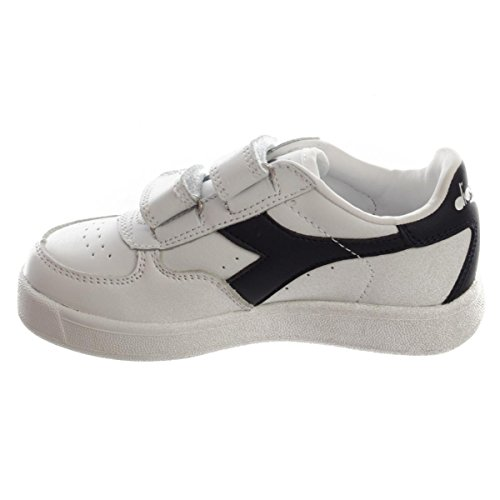 Diadora B Elite Jr, Sneaker Bas du Cou Mixte Enfant White/Blue Denim/Blue Den