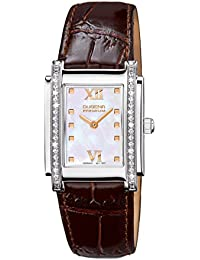 Dugena Damen-Armbanduhr Tenero Stone - Traditional Classic Analog Quarz Leder 7500259