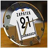 Reloj de sobremesa, diseño de camiseta de fútbol de La Ligaespañola, hombre, Real Zaragoza