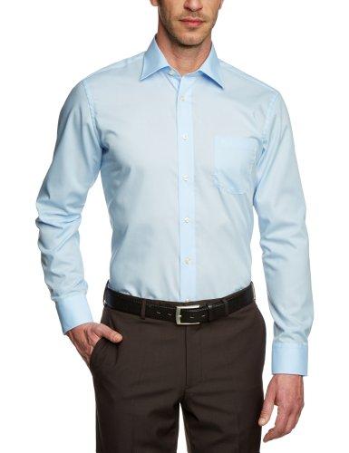 CASAMODA Herren Regular Fit Business Hemd 006050, Gr. Kragenweite: 44, Blau (blau 14) Preisvergleich