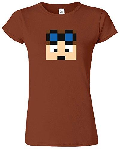 Dan TDM & Stampy Cat T-shirt des femmes drôles Slogan Châtaigne