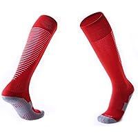 Lymocha 1 Pares Calcetines de fútbol de Rayas Antideslizantes,Calcetines Deportivos para Hombres y Mujeres,Cómodo, cálido, Absorbente del Sudor(Size 37-45)