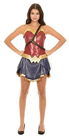 Dc Comics Wonder Woman Warrior Corset and Skirt Costume Set (Adult X-Large)