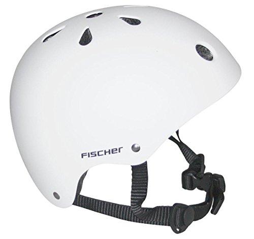 Fischer BMX Fahrrad Skater Helm (Weiß, S)