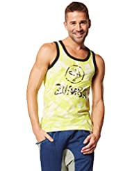 Zumba Fitness Get Charged Up - Camiseta sin mangas para hombre, color blanco, talla L