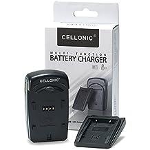 CELLONIC® Cargador DE-A98A,DE-A99B para Panasonic DMW-BLE9, DMW-BLG10, Leica BP-DC15 (Leica D-Lux, Panasonic Lumix DMC-LX100, DMC-GX7) - incl. fuente alimentación + cargador de coche - cargador corriente, cargador automóvil, cargador bateria cámara
