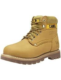 d0833a182cbfb CAMEL CROWN Casual Botas de Cuero Botas Track de Tobillo Bajo Trabajando  Botines Zapatos No-