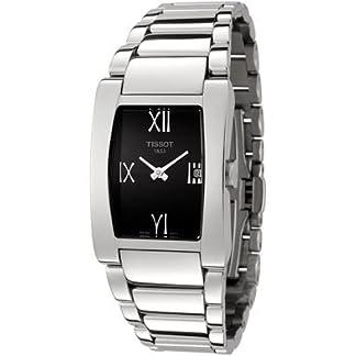 T007.309.11.053.00Tissot T Trend Generosi pulsera de acero esfera de color negro reloj de pulsera de mujer