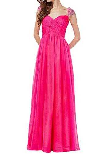 ivyd ressing robe a Robe de ligne aermel courte avec pierres Prom Party Soirée Robe - Pfirsch
