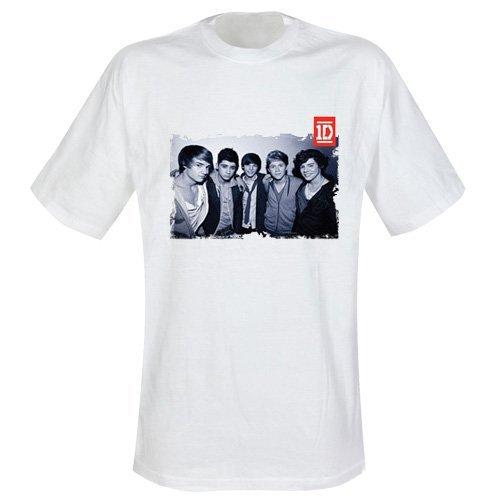 Shirt Black & White Group Photo Größe L - 1D T-Shirt ()