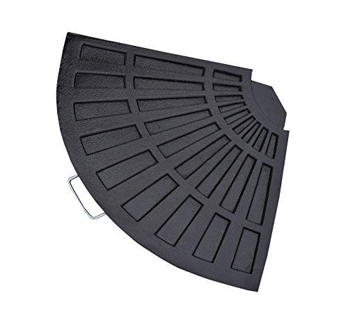 Ice Kühler Computerwagen Aus Polyresin Rostfrei Fan Form Gewicht Für  Regenschirmständer, Schwarz