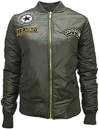 Planeador dsguided Bomber Chaqueta Jacket con Patch MA1en color caqui