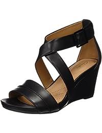 Clarks Women's Acina Newport Leather Fashion Sandals